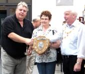 Jim & Carol Huxley with LCNWBS President Alan Kelly