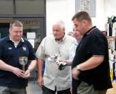 John, Wayne & Richard Bowker with LCNWBS President Alan Kelly